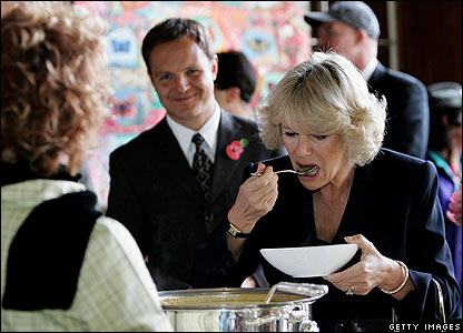 Camilla sampling soup