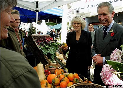 Prince Charles talking to stallholder