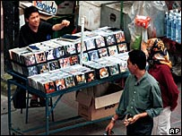 Pirated CD stall in Kuala Lumpur (archive image)