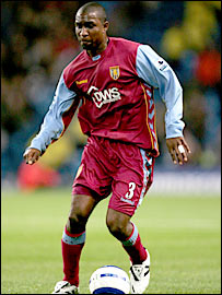 Aston Villa full-back Jlloyd Samuel