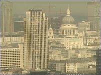 London under smog