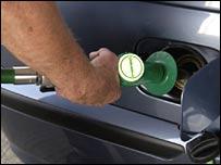 Motorist refuelling