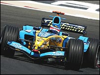 Renault's Fernando Alonso won the 2005 Bahrain Grand Prix