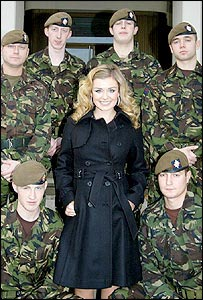 Katherine Jenkins with troops