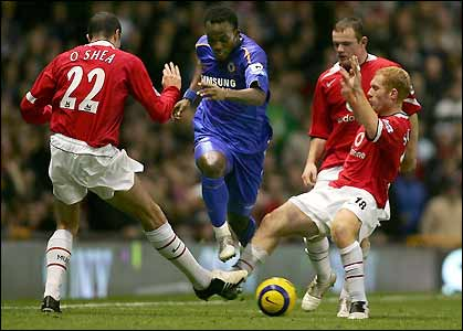 Michael Essien is thwarted