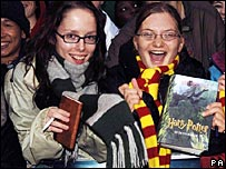 Harry Potter fans in London's Leicester Square