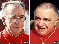 Cardinal Claudio Hummes and Archbishop Dionigi Tettamanzi
