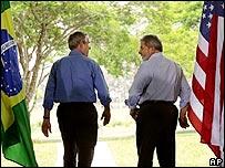 George Bush y Lula da Silva.