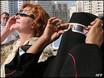 Annular solar eclipse in Dubai