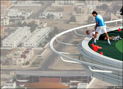 Tennis helipad