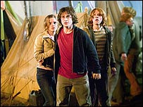 Emma Watson, Daniel Radcliffe and Rupert Grint in Harry Potter and the Goblet of Fire