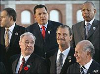 Fox junto a otros mandatarios americanos