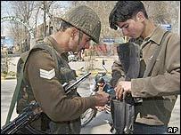 Security checks in Srinagar, Indian-controlled Kashmir