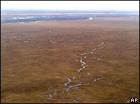 The coastal plain of Alaska's Arctic National Wildlife Refuge (ANWR)