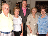 Michael Portillo (centre) with Basque 'children'