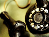 Old telephone handset, Eyewire