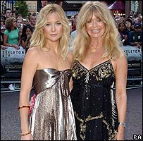 Kate Hudson, Goldie Hawn at London film premiere in 2005
