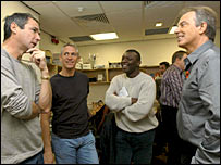 Tony Blair, Alan Hansen, Gary Lineker and Garth Crooks