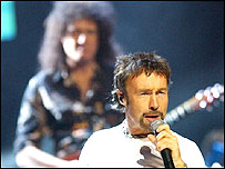 Paul Rodgers with Queen