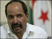 Polisario Front leader Mohamed Abdelaziz