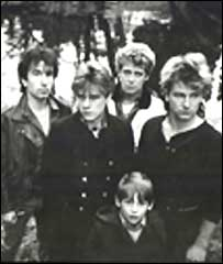 Peter Rowen, the young boy, pictured with U2 in its early days