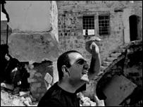 Director Hany Abu-Assad on location in Nablus (photo: Seamus Murphy)