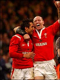 Gavin Henson and Gareth Thomas