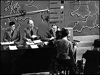 TV election broadcast, 1950