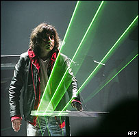Jean-Michel Jarre performing at HC Andersen show