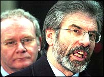 Martin McGuiness and Gerry Adams