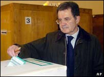 Italian centre-left leader Romano Prodi