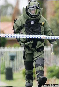 Australia bomb disposal expert during Tuesday raid