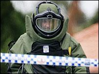 Australia bomb disposal expert during Tuesday raid