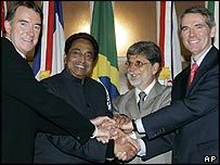 Trade officials from the European Union, India, Brazil and the United States