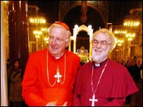 Cardinal Murphy O'Connor with Dr Rowan Williams