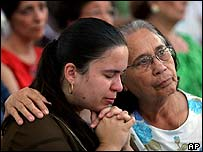 Catholics mourn the Pope in Brazil