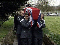 Picture of Mark Gibson's funeral