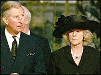 Prince Charles and Mrs Parker Bowles at Westminster Cathedral