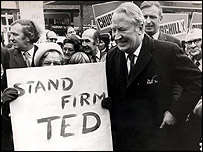 Ted Heath on the campaign trail