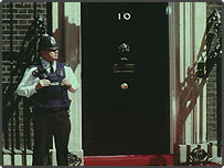 Policemen outside 10 Downing Street
