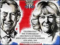 Charles and Camilla wedding tea towel