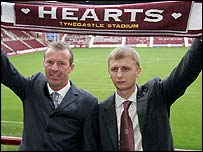 Graham Rix and Roman Romanov at Tynecastle