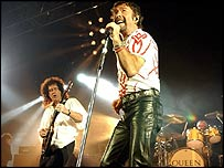 Queen guitarist Brian May (left) with Paul Rodgers