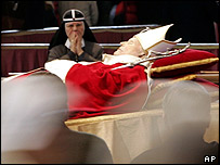 The Pope lies in state