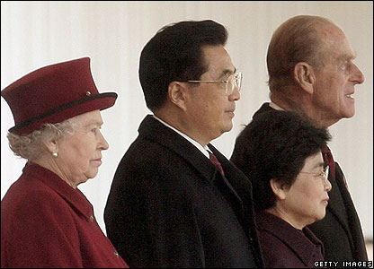 Queen Elizabeth II, Chinese President Hu Jintao, Madame Liu Yongqing and The Duke of Edinburgh