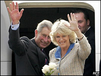 Charles and Camilla say goodbye