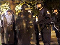 French riot police south of Paris