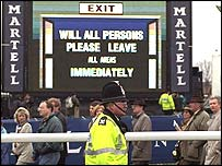 Aintree was evacuated in 1997 due to a bomb scare
