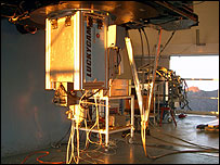 Lucky Imaging camera hooked up to  the Nordic Optical Telescope in La Palma