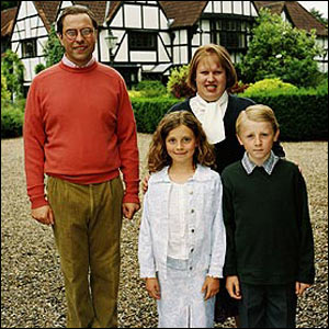 Sir Norman Fry and family